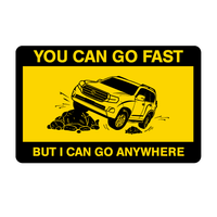 I Can Go Anywhere Land Cruiser Sticker-0