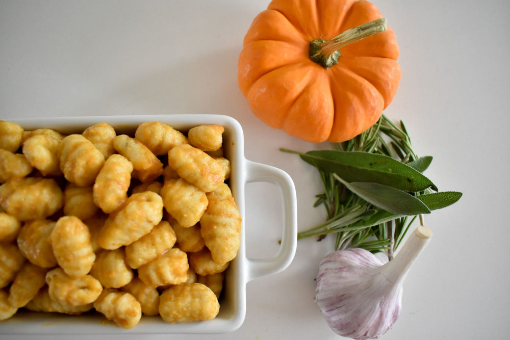 Pumpkin Gnocchi with Garlic Sage Camelina Oil