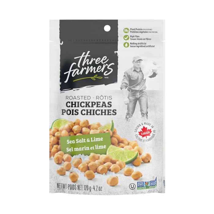 Sea Salt & Lime Roasted Chickpeas - 12 x 120g