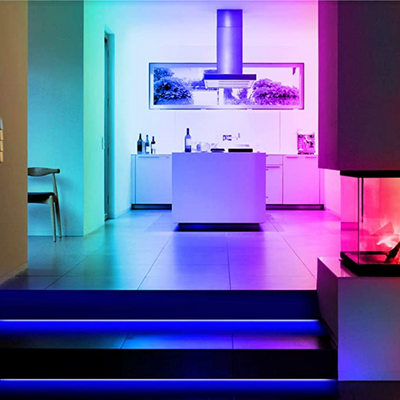 LED Strip Ambiance Lights with Bluetooth App Connectivity