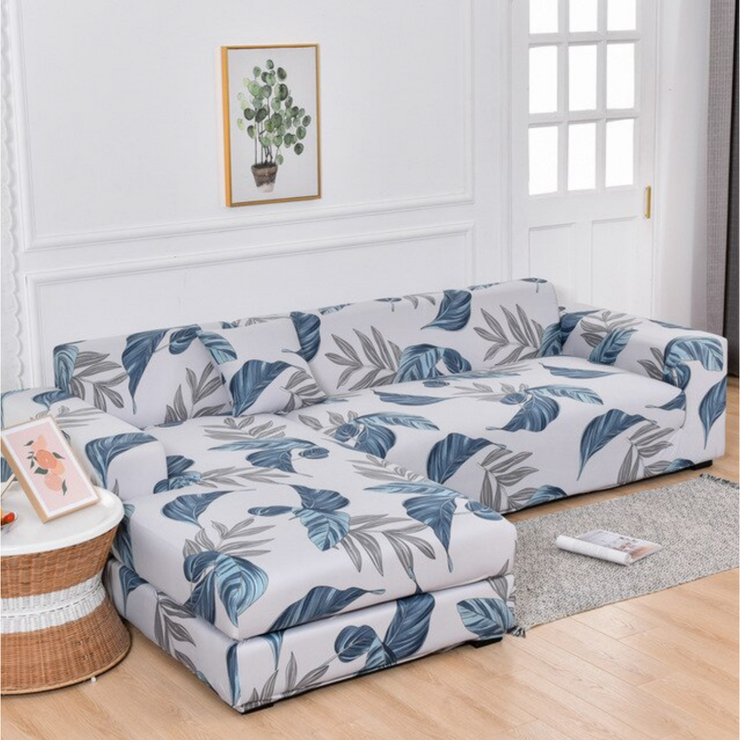 TROPICAL [SECTIONAL] STRETCHABLE, SOFT, & WASHABLE SOFASLEEVE™