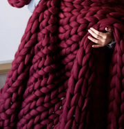 SUPER CHUNKY KNIT THROW BLANKET