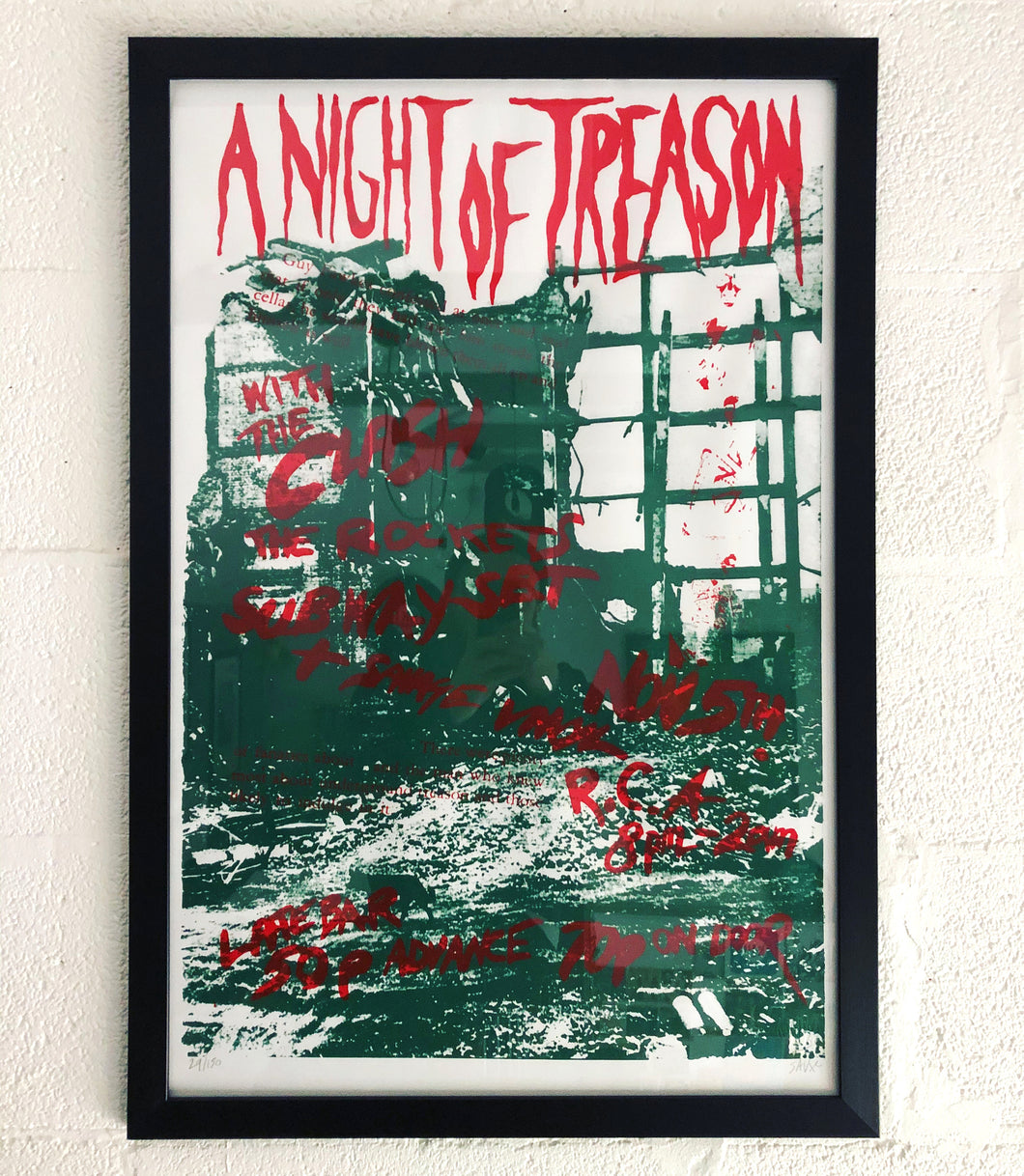 The Clash 'Night of Treason' Limited Edition Signed & Numbered Screen Print