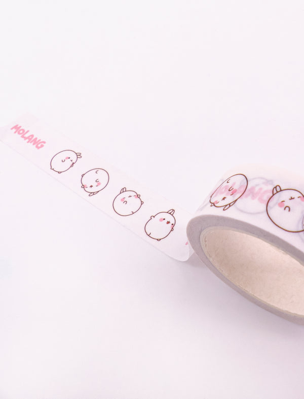 A cute Molang Happy Mood Masking Tape.