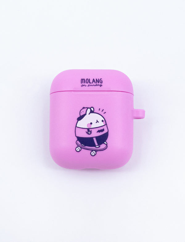 A cute pink Molang Skater AirPod Case.