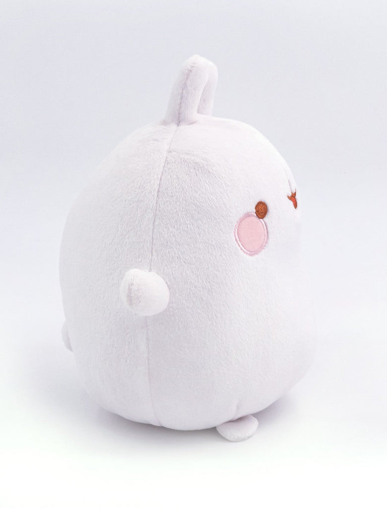 A cute white basic Molang plush.