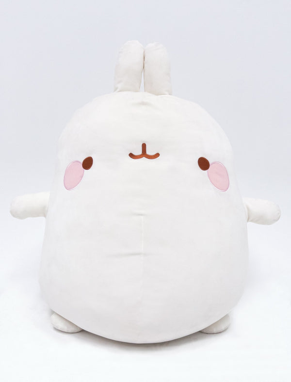A cute Molang XXL Super Soft Plush 61cm.