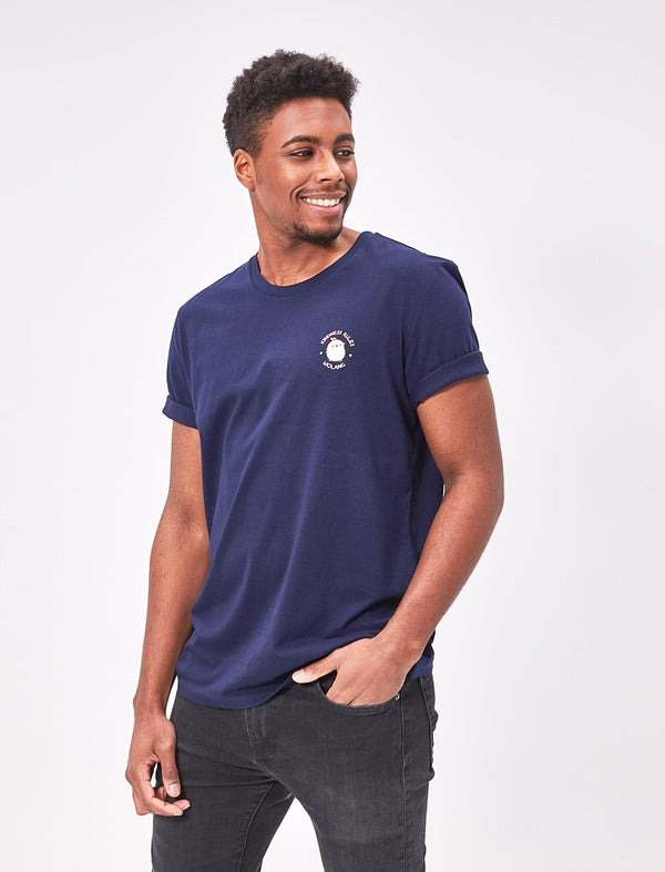 "A cute unisex navy blue t shirt Molang ""Kindness Rules"" of our bunny."