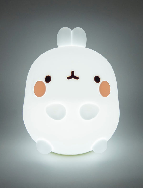 A cute Molang Silicon kawaii soft Lamp