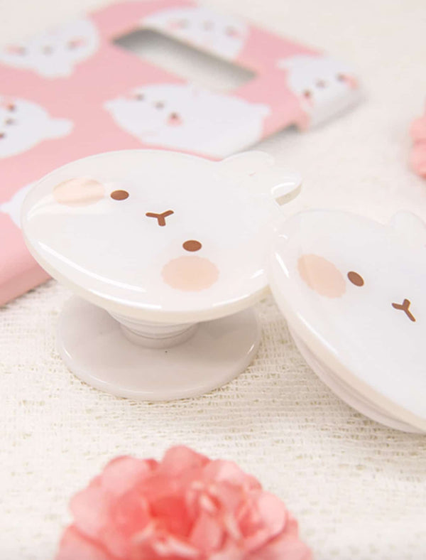 A cute Molang Smart Tok Brown kawaii phone accessory