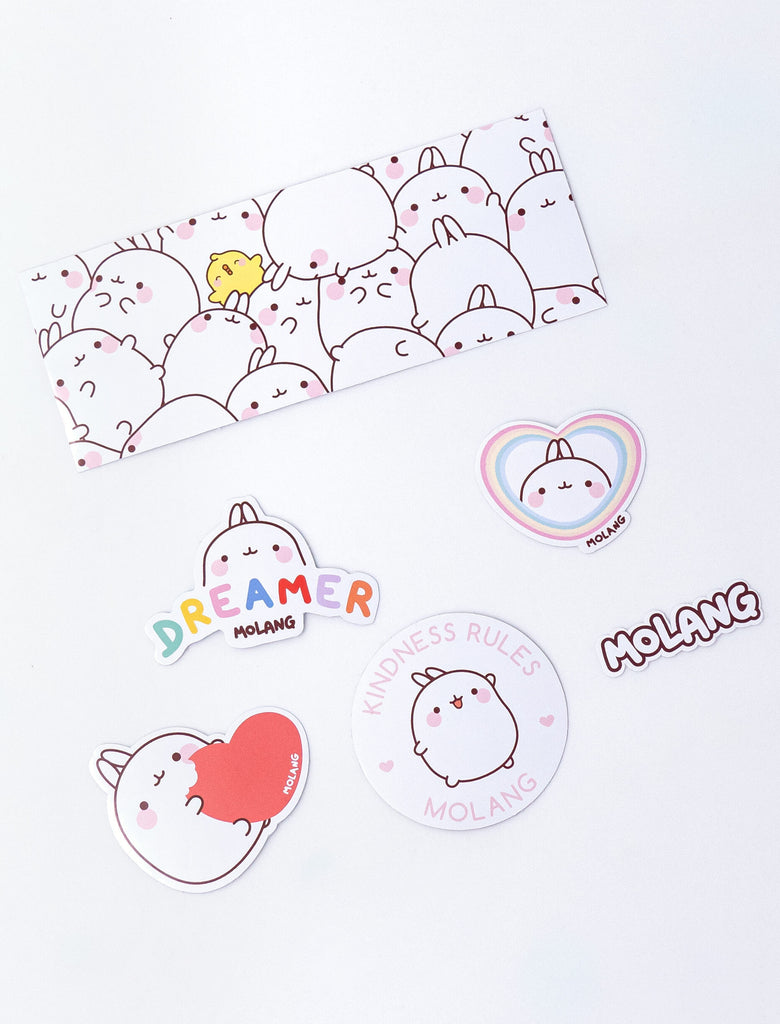 Pack of stickers of our cute bunny Molang.