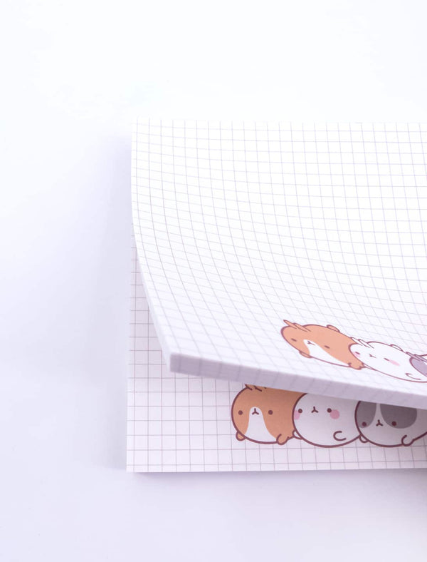 Cute white sticky notes Molang and Pincos.