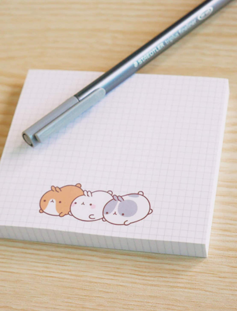 Cute white sticky notes Molang and Pincos kawaii