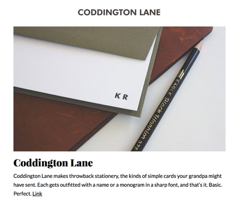 coolmaterial.com, stationery shops for men, stationery for men, personalized stationery for men, letterpress stationery for men