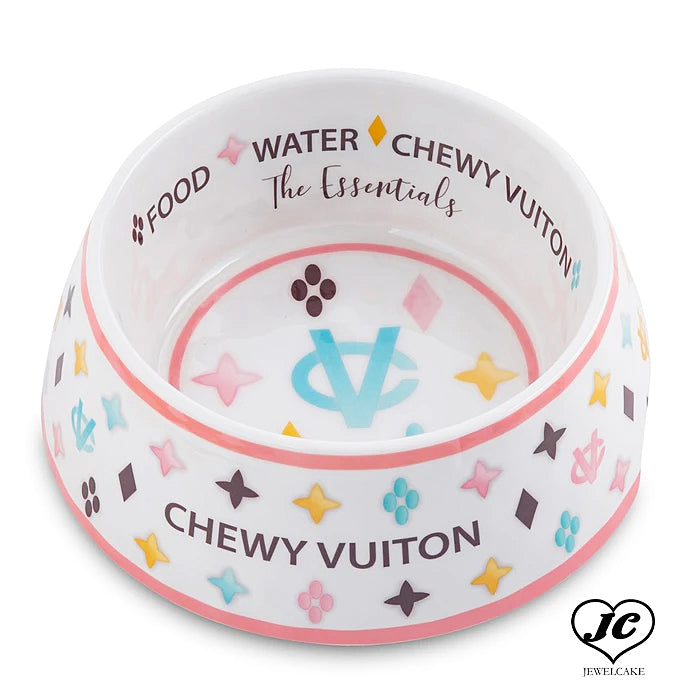 【Haute Diggity Dog】Chewy White Vuiton Bowl 単品 フードボール