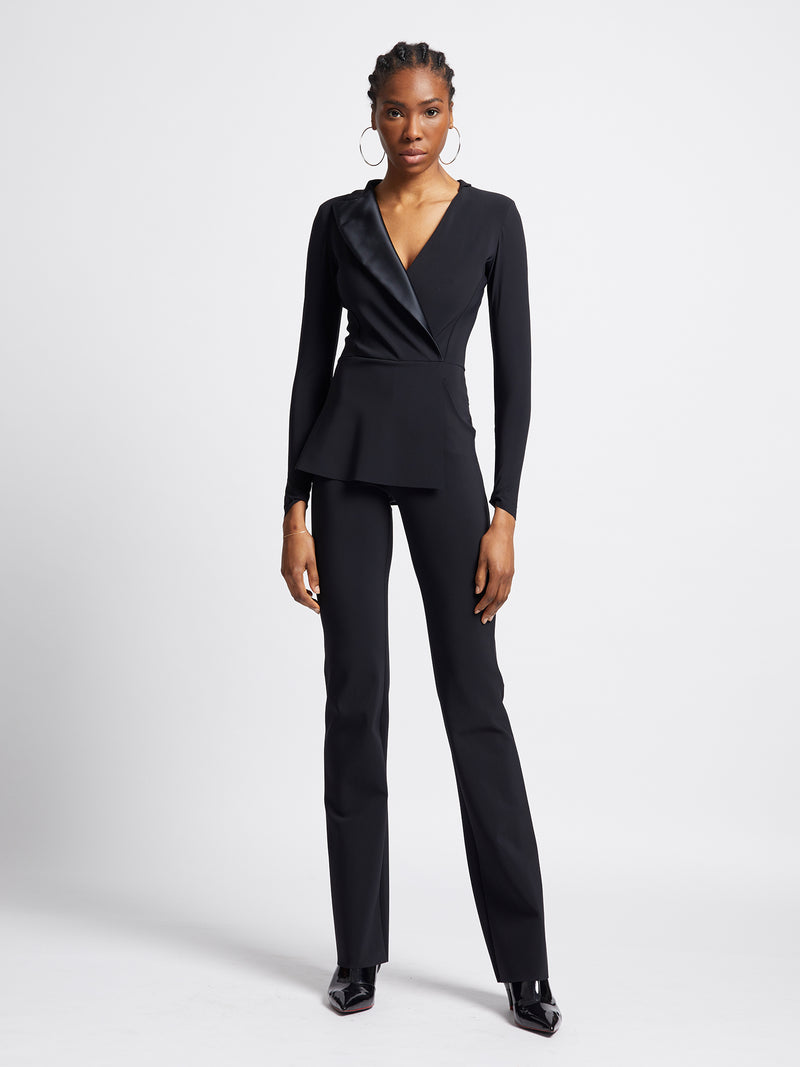 Jumpsuit im Smoking-Stil