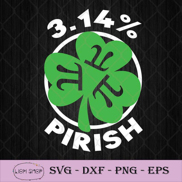 3.14 Pirish St. Patricks Math Geek Pi Day SVG PNG DXF EPS-SVGPrints