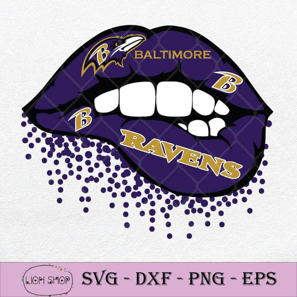 Baltimore Ravens Lips SVG, Ravens Football SVG-SVGPrints