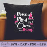 Bows And Bling Its A Cheer Thing SVG Clipart - SVGPrints