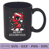 Deadpool Merry Kissmyass  SVG - Merry Christmas Clipart - SVGPrints