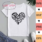 Feather Heart SVG, PNG, Clipart, Digital Download - SVGPrints
