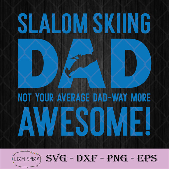 Funny Father's Day Slalom Waterski Wakeboard SVG PNG Silhouette Cricut-SVGPrints