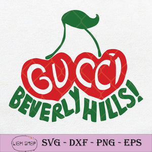 Gucci Beverly Hills Cherry SVG PNG Silhouette Cricut Clipart File-SVGPrints