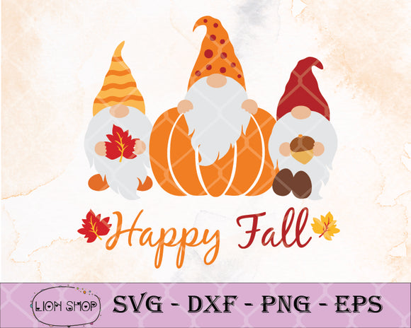 Happy Fall Thanksgivings Gnomes SVG-Fall Gnome SVG-SVGPrints