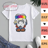 Hippie Gnome SVG Clipart PNG DXF EPS - SVGPrints