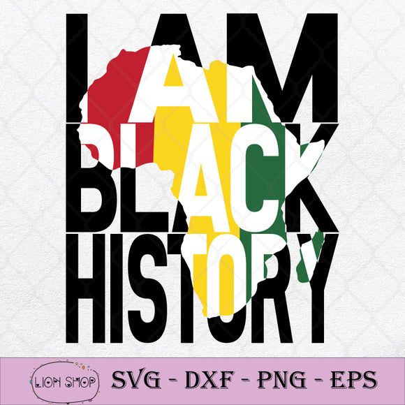 I Am Black History Month African American Pride SVG PNG Silhouette Clipart-SVGPrints
