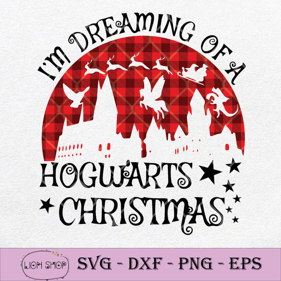 I'm Dreaming Of A Hogwarts Christmas SVG-SVGPrints