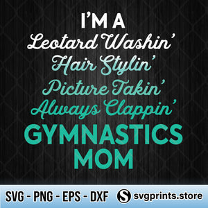 Leotard Washin Gymnastics Mom SVG, Mother's Day SVG PNG-SVGPrints