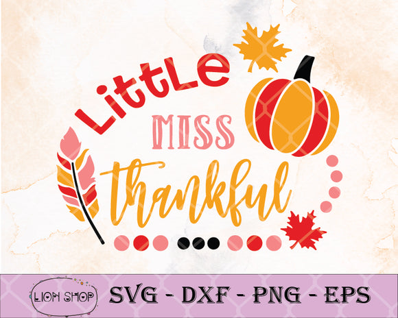 Little Miss Thankful - SVG Clipart PNG EPS DXF - SVGPrints
