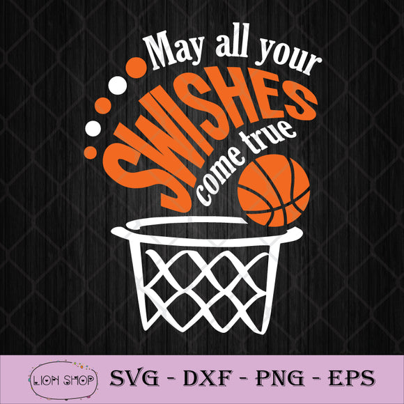 May All Your Swishes Come True SVG Images PNG Silhouette Clipart Cricut-SVGPrints