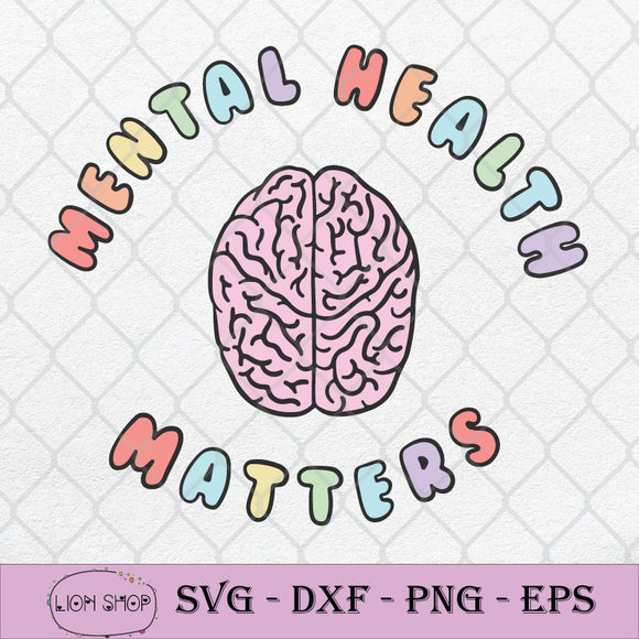 Mental Health Matters SVG PNG DXF EPS-SVGPrints