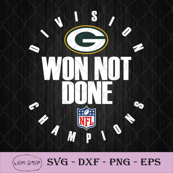 NFL Playoffs 2020 Won Not Done Division Champions Green Bay Packers SVG-SVGPrints