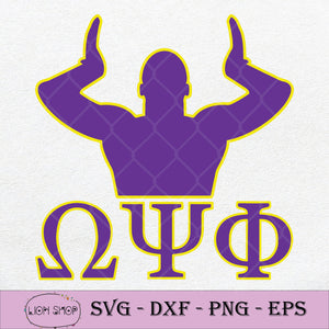 Omega Psi Phi Q Dog SVG, Omega Psi Phi 1911 SVG PNG DXF EPS-SVGPrints