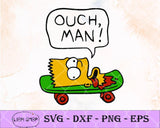 Ouch Man The Simpsons SVG, The Simpsons SVG Clipart PNG Digital Cut Files - SVGPrints