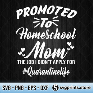 Promoted To Homeschool Mom The Job I didn't Apply For Quarantinedlife SVG-SVGPrints