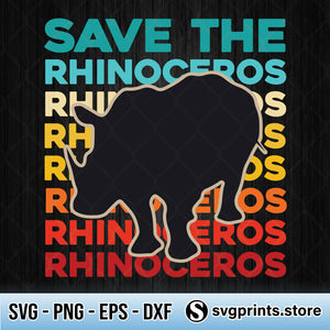 Save The Rhinoceros Environmentalist SVG PNG Clipart Silhouette-SVGPrints