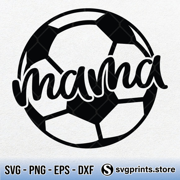Soccer Mama SVG PNG, Mother's Day Gift SVG Clipart Silhouette-SVGPrints