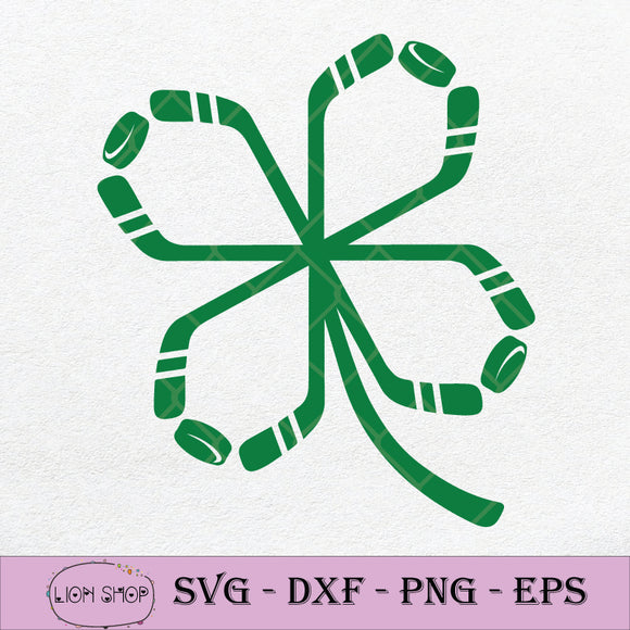 St Patrick's Day Hockey Irish SVG, St Patrick's Day sVG PNG Silhouette Clipart-SVGPrints