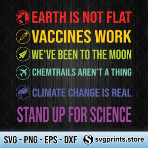 Stand Up For Science SVG PNG DXF EPS-SVGPrints
