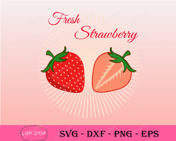 Strawberry SVG PNG Clipart Digital Download - SVGPrints