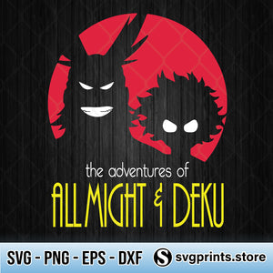 The Adventures Of All Might And Deku SVG PNG Clipart Silhouette-SVGPrints
