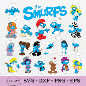 The Smurf SVG, The Smurf Cricut Clipart PNG DXF EPS-SVGPrints