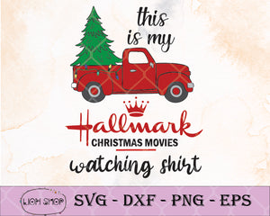 This Is My Hallmark Christmas Movie Watching Shirt SVG Clipart - SVGPrints