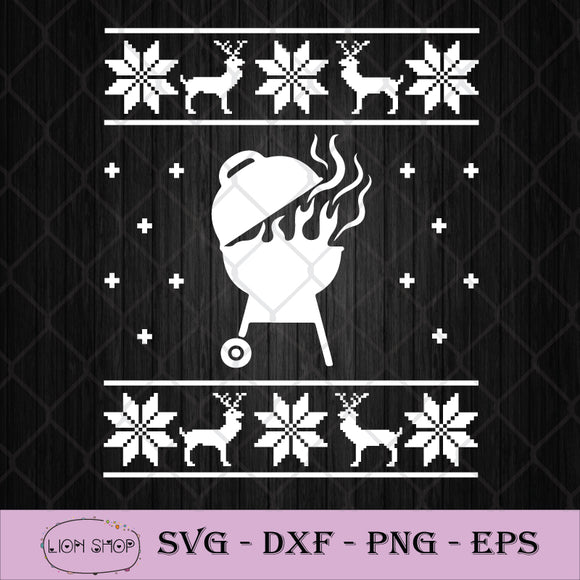 Ugly Christmas Winter BBQ Xmas SVG, Ugly Christmas Day SVG PNG DXF-SVGPrints