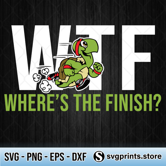 WTF Wheres The Finish Turtle SVG PNG DXF EPS-SVGPrints