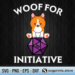 Woof For Initiative Corgi Dungeons And Dogs SVG PNG DXF EPS-SVGPrints